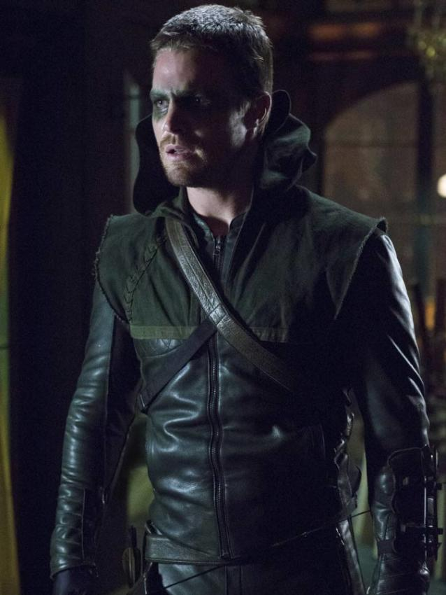 Oliver Queen Arrow Leather Jacket