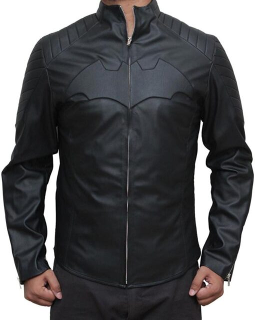 Batman Begins Black Leather Jacket