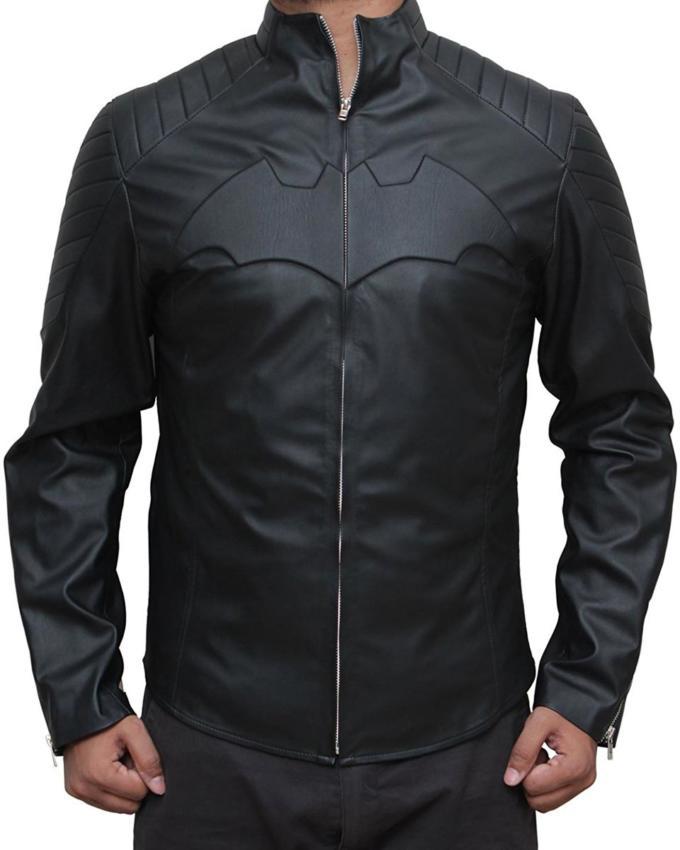 Batman Begins Black Leather Jacket
