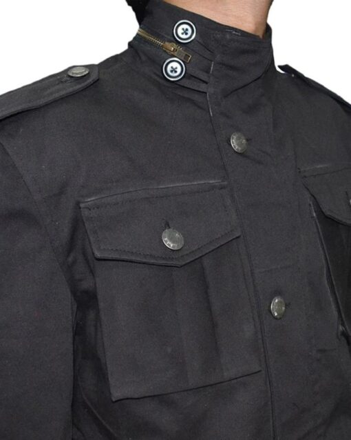 Black Daredevil Punisher Cotton Jacket