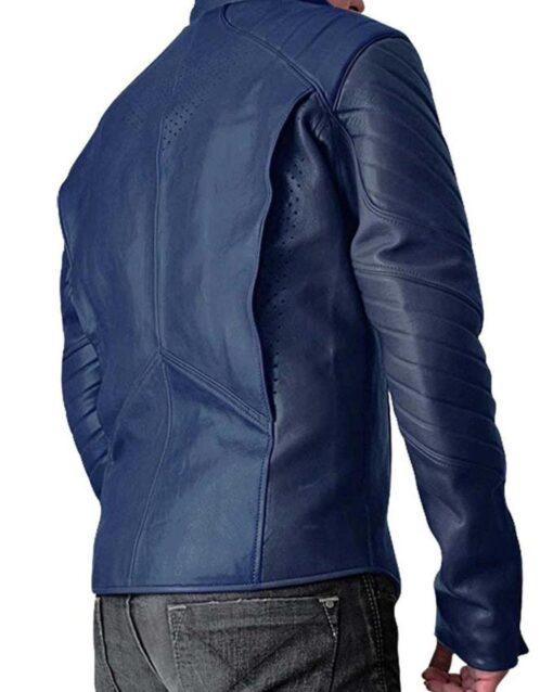 Superman Man Of Steel Leather Jacket