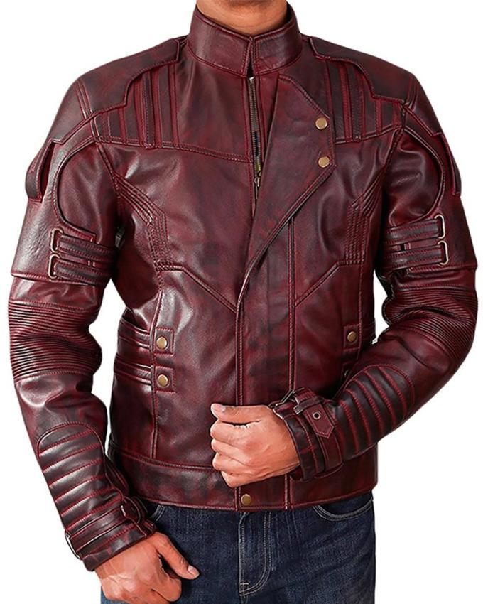 Star Lord Chris Pratt Vol 2 Leather Jacket