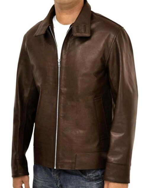 X-Men Magneto Brown Leather Jacket