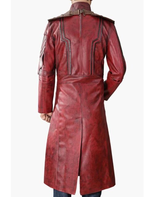 Star Lord Guardians Of The Galaxy Vol 2 Leather Long Coat