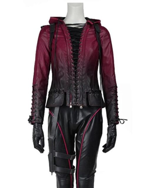Arrow Speedy Hooded Leather Jacket
