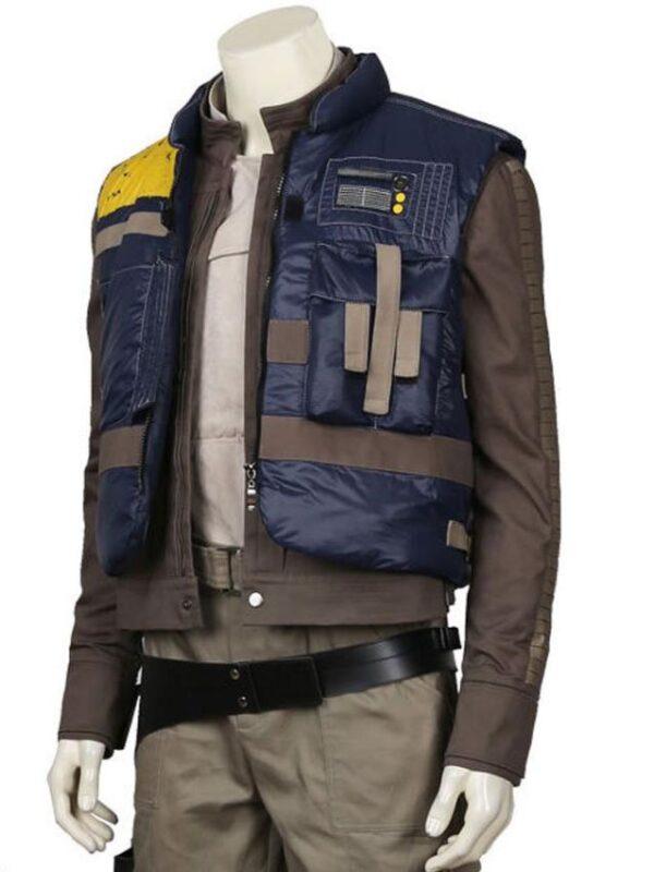 Star Wars Rogue One Diego Luna Blue Vest