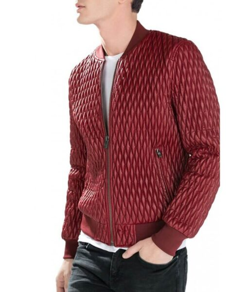 Mens-Red-Bomber-Quilted-Faux-Leather-Jacket-WilliamJacket