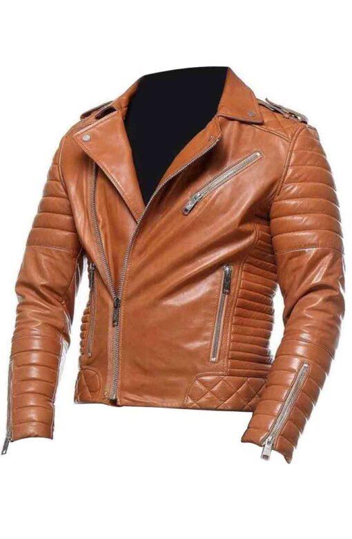 Brown Moto Leather Jacket