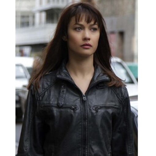 Olga Kurylenko Momentum Leather Jacket