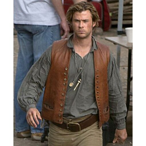 In The Heart of The Sea Owen Chase Brown Leather Vest