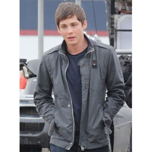 Logan Lerman Percy Jackson Black Cotton Jacket