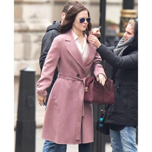 Red Sparrow Stephanie Boucher Pink Coat
