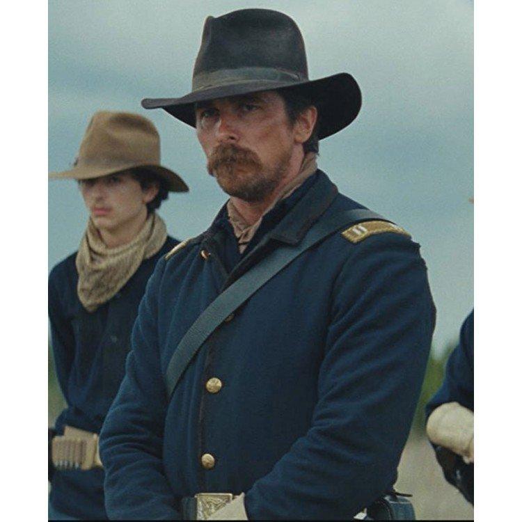 Christian Bale Hostiles Blue Cotton Uniform Jacket