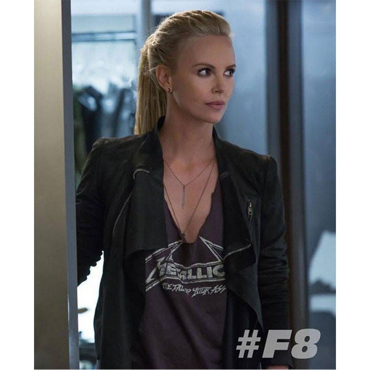 charlize theron fast and the furious 8 black leather jacket. Black Bedroom Furniture Sets. Home Design Ideas