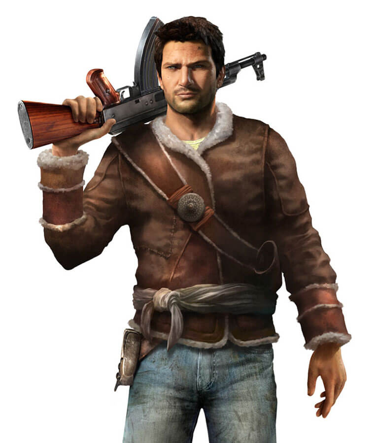 Nathan Drake Uncharted 2 Fur Lined Brown Leather Jacket