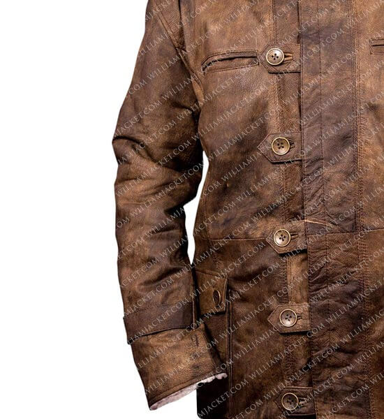 152d6d60a Bane Coat 'Tom Hardy - Dark Knight Rises' Distressed Leather Jacket