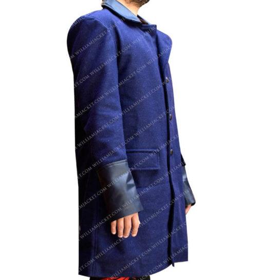 Gotham-Bruce-Wayne-Blue-Trench-Coat-William-Jacket-Side