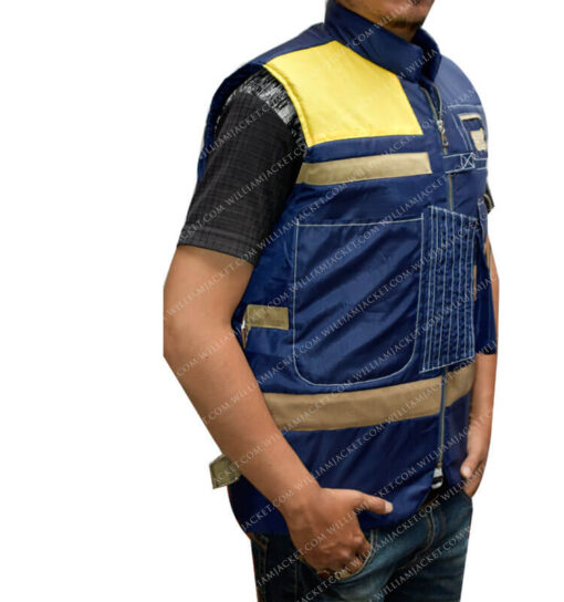 Rogue One Cassian Andor Blue Vest williamJacket Side Right