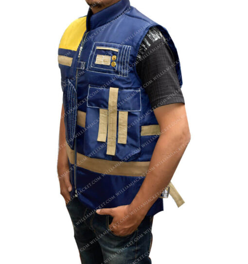 Rogue One Cassian Andor Blue Vest williamJacket Side left