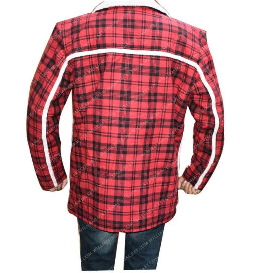 Deadpool Shearling Flannel Jacket William Jacket Back