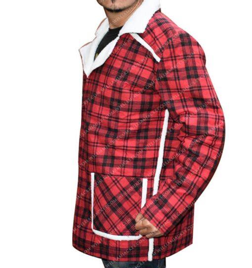 Deadpool Shearling Flannel Jacket William Jacket Side Left