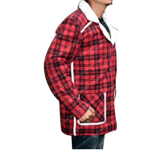 Deadpool Shearling Flannel Jacket William Jacket Side Right