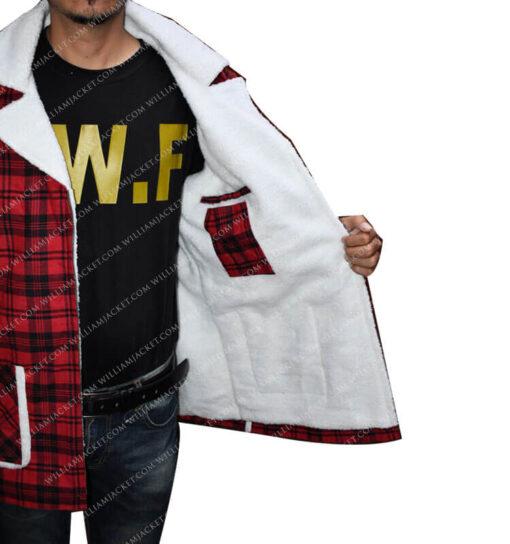Deadpool Shearling Flannel Jacket William Jacket Side pocket