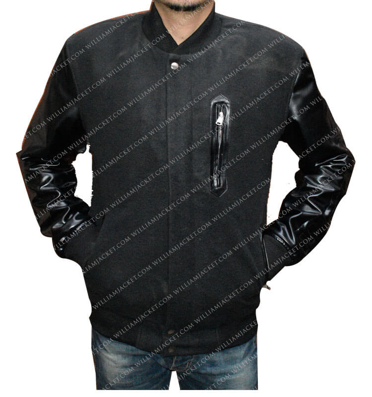 00678b28636 Michael B Jordan KOBE Destroyer XXIV Battle Leather Sleeves Jacket