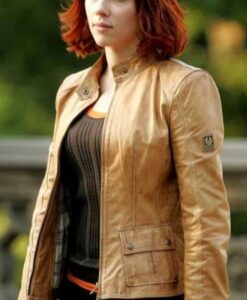 Natasha Romanoff Avengers Endgame Leather Jacket