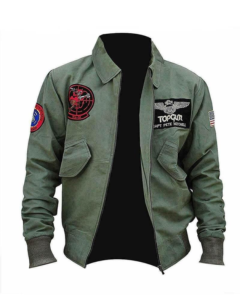 top gun 2 tom cruise maverick bomber leather jacket
