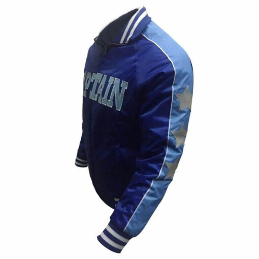 Mens-Captain-Boomerang-Suicide-Squad-Varsity-Letterman-Blue-- WilliamJacke