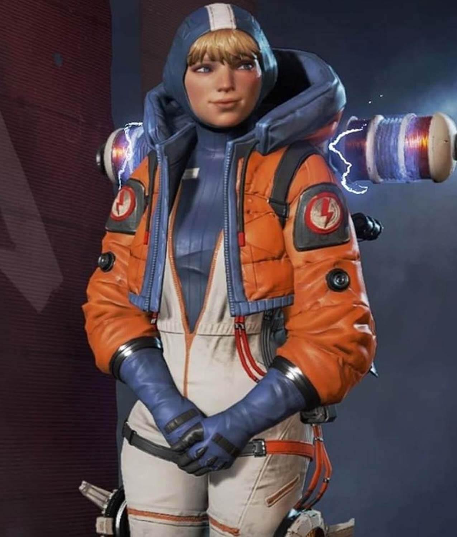 Wattson Apex Legends Justine Huxley Parachute Jacket