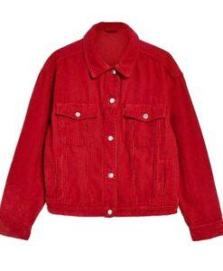 Willow Shields Red Corduroy Jacket