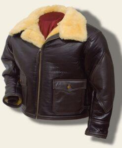 Navy M-445A Brown Shearling Jacket