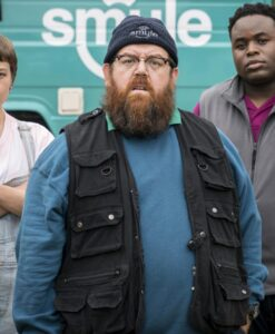 Nick Frost Truth Seekers Gus Vest